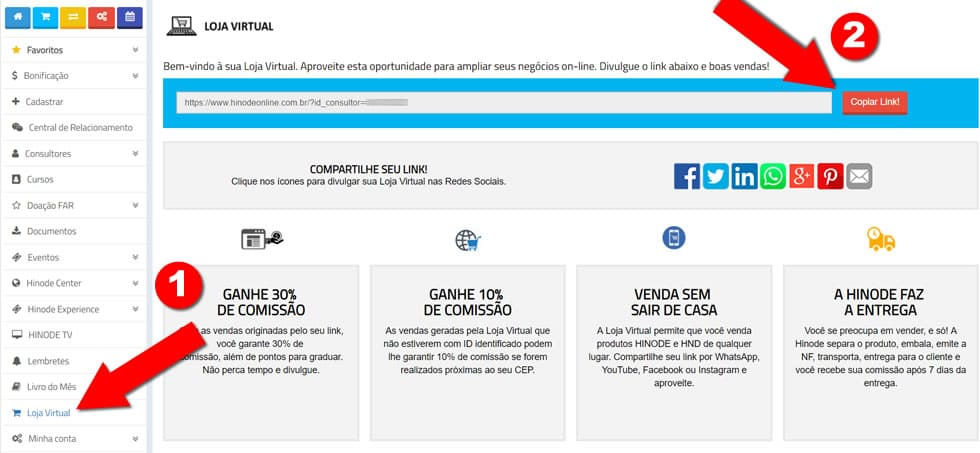 994f15a41 Loja Virtual Hinode  Saiba Como Ativar e Divulgar Sua Loja Online